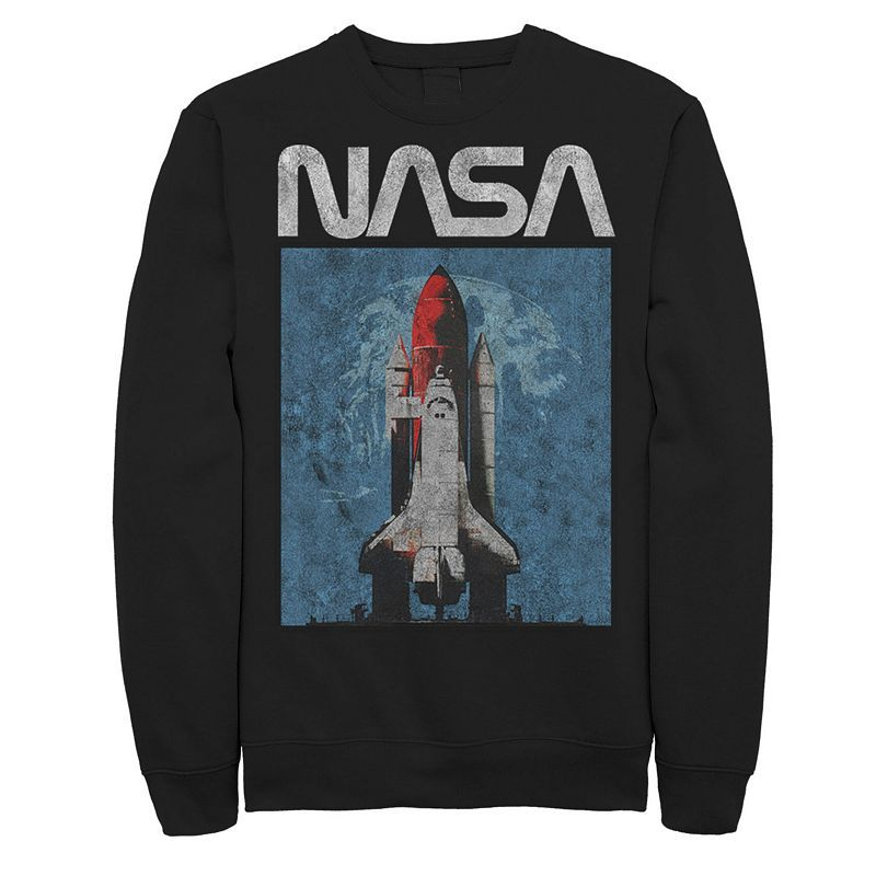 Launch your sense of style with this men's NASA sweatshirt. Crewneck Long sleevesFABRIC & CARE Cotton, polyester Machine wash Imported Launch your sense of style with this men's NASA sweatshirt. Licensed Character Launch your sense of style with this men's NASA sweatshirt. Color: Black. Gender: male. Age Group: adult.