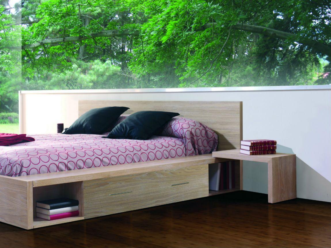 Lit 2 places avec tiroirs en bois   Décoration maison, Tiroir bois et Rangement bois