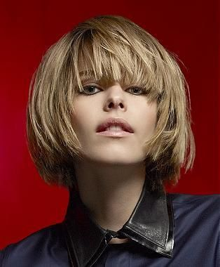 A Short Blonde Straight Coloured Choppy Bob Definedfringe Womens - Bob hairstyle definition