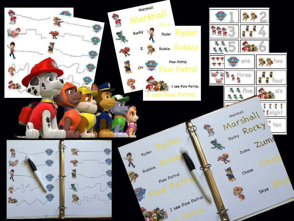 Paw Patrol Instant Download Pdf Busy Binder Quiet Book Toddler Preschool Travel Games Paw Patrol Preschool Travel Paw Patrol Birthday [ 768 x 1024 Pixel ]