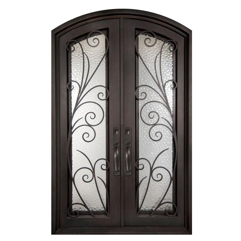 appealing concept sidelites single iron inspiration black front bed custom full texas door of classic inspiring with tfast and star wood wrought solid unlimited in doors