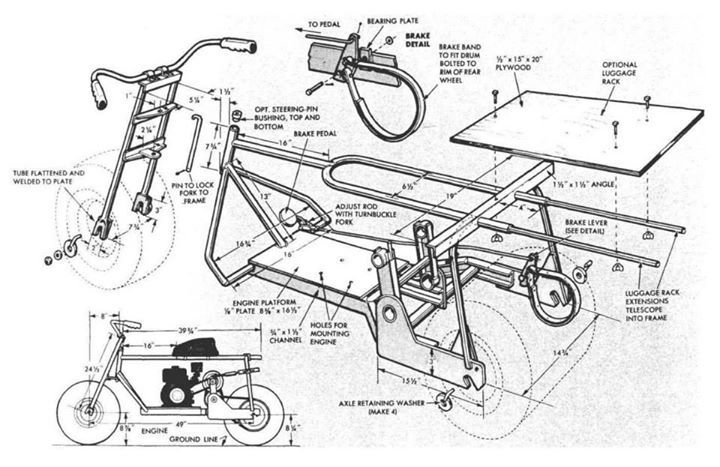 fat tire scooter for sportsmen page 02 of 05 - vintage diy plans ...