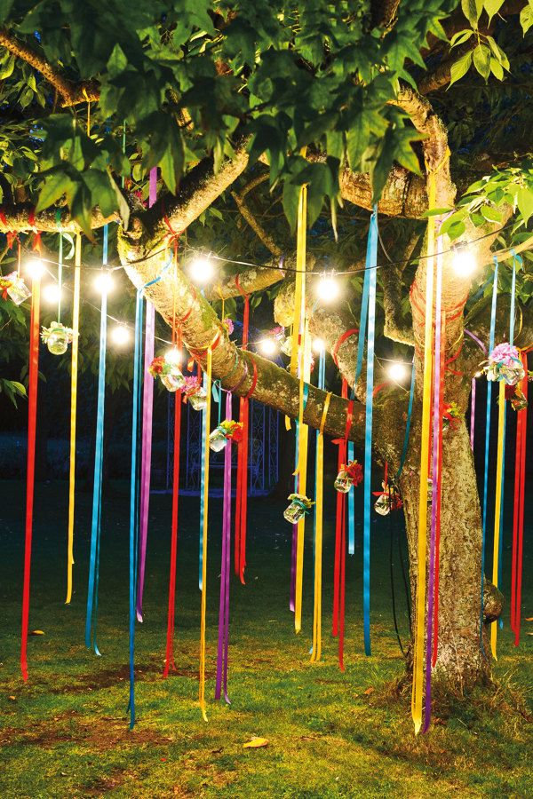iluminacin en jardn para fiesta