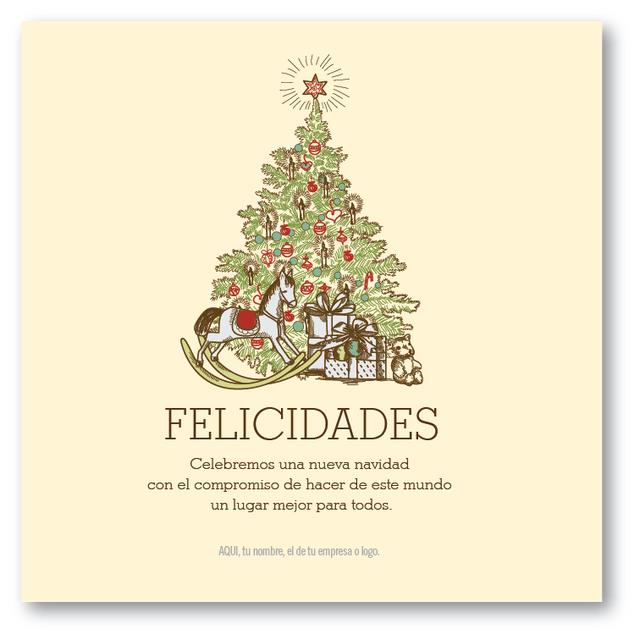 Tarjeta De Saludo Para Navidad Fin De Año Personalizada
