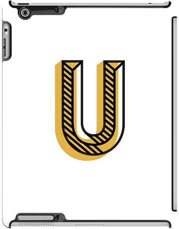 """U"" by Jessica Hische for the iPad 3rd gen Deflector"