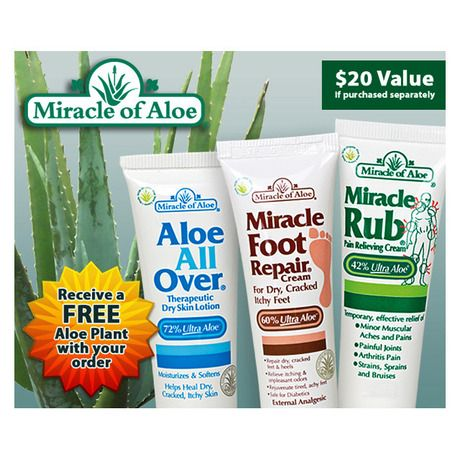 $5.00 FREE STOCKING STUFFER..PURE ALOE GELS..JUST SIGN UP..I found this amazing 3-Piece Set - Miracle of Aloe with Free Gift at nomorerack.com for 80% off. Sign up now and receive 10 dollars off your first purchase