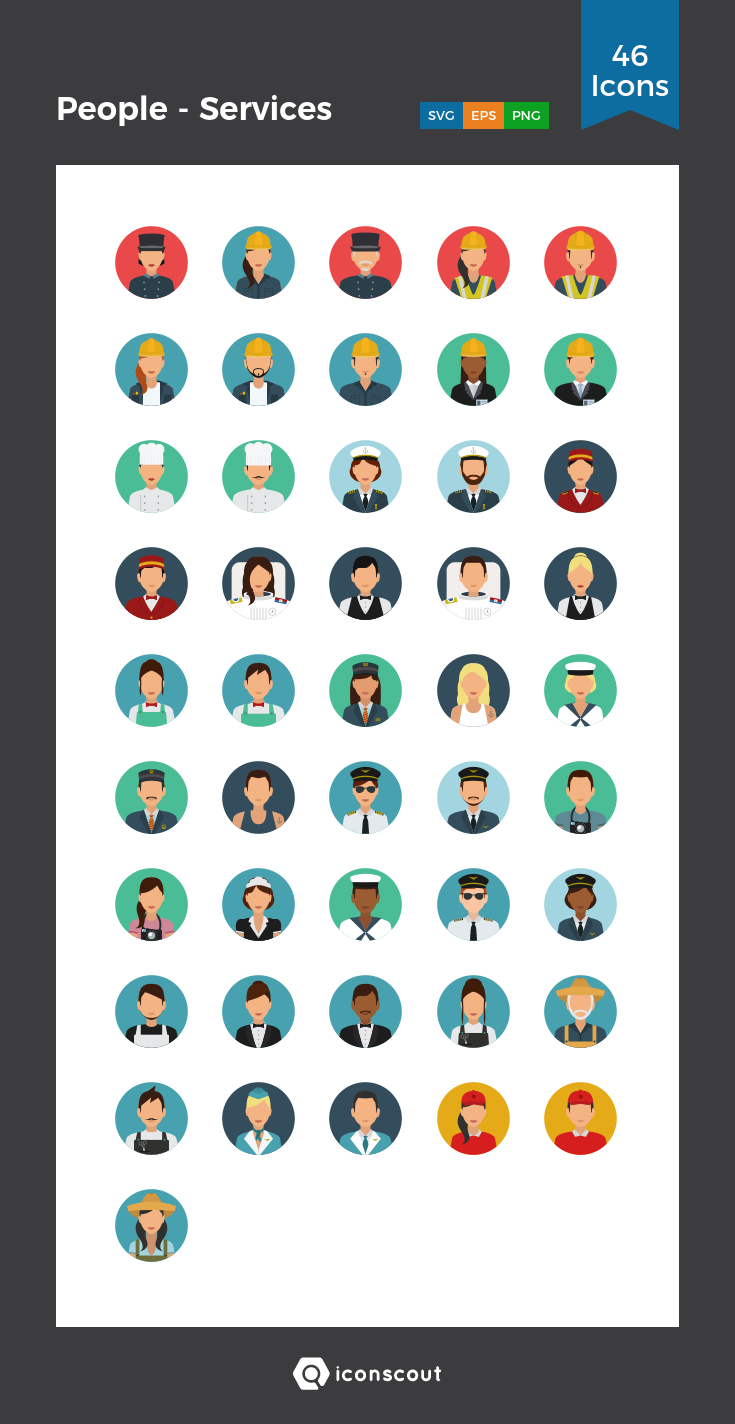 Download People Services Icon pack Available in SVG