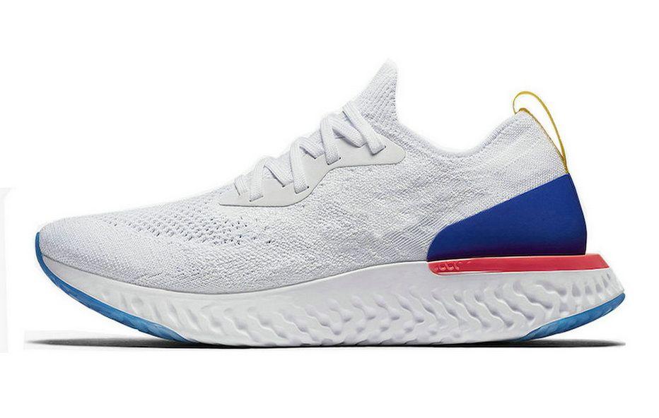 7fec97a9c00b7 Nike Epic React Flyknit White Blue Pink Nike Shoes Men S Casual Shoe ...