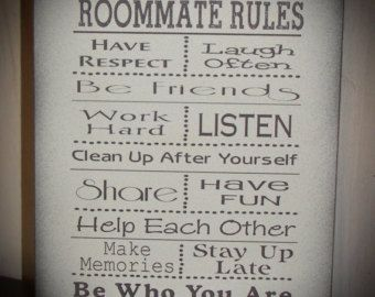 College Signs Decoration Dorm Room Rules Wall Art Inspirational College Dorm Decor  Off To