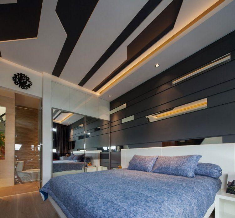 Faux Plafond Design En Relief Panneau Mural Decoratif En Bois Gris