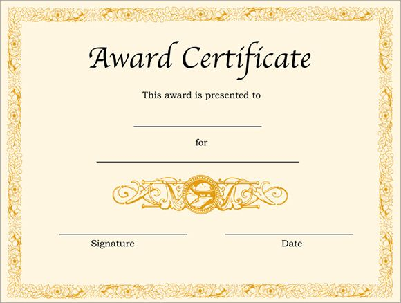 image result for free printable award certificate template