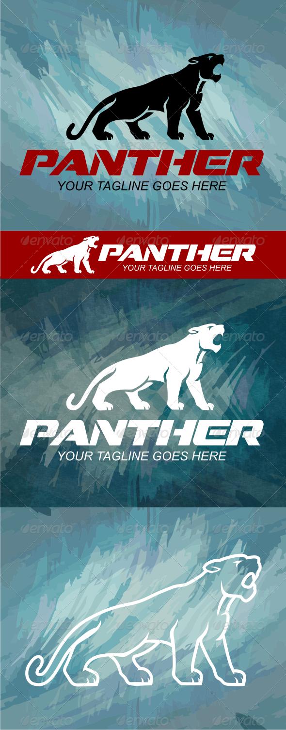 Black Panther Animal Logo Black Panther Panther Logo