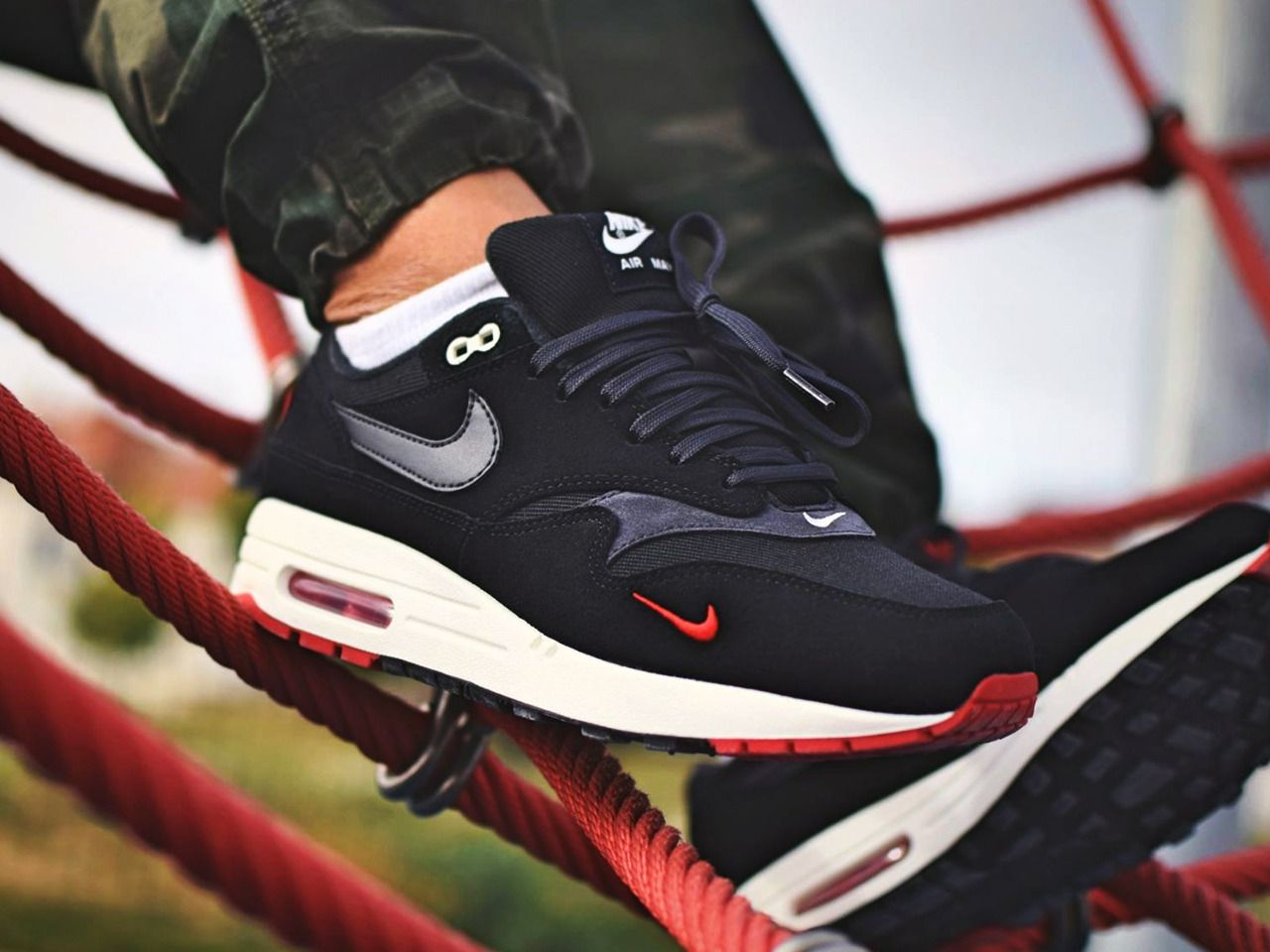 Nike Air Max 1 Mini Swoosh Bred 2018 (by nirmax) | Nike