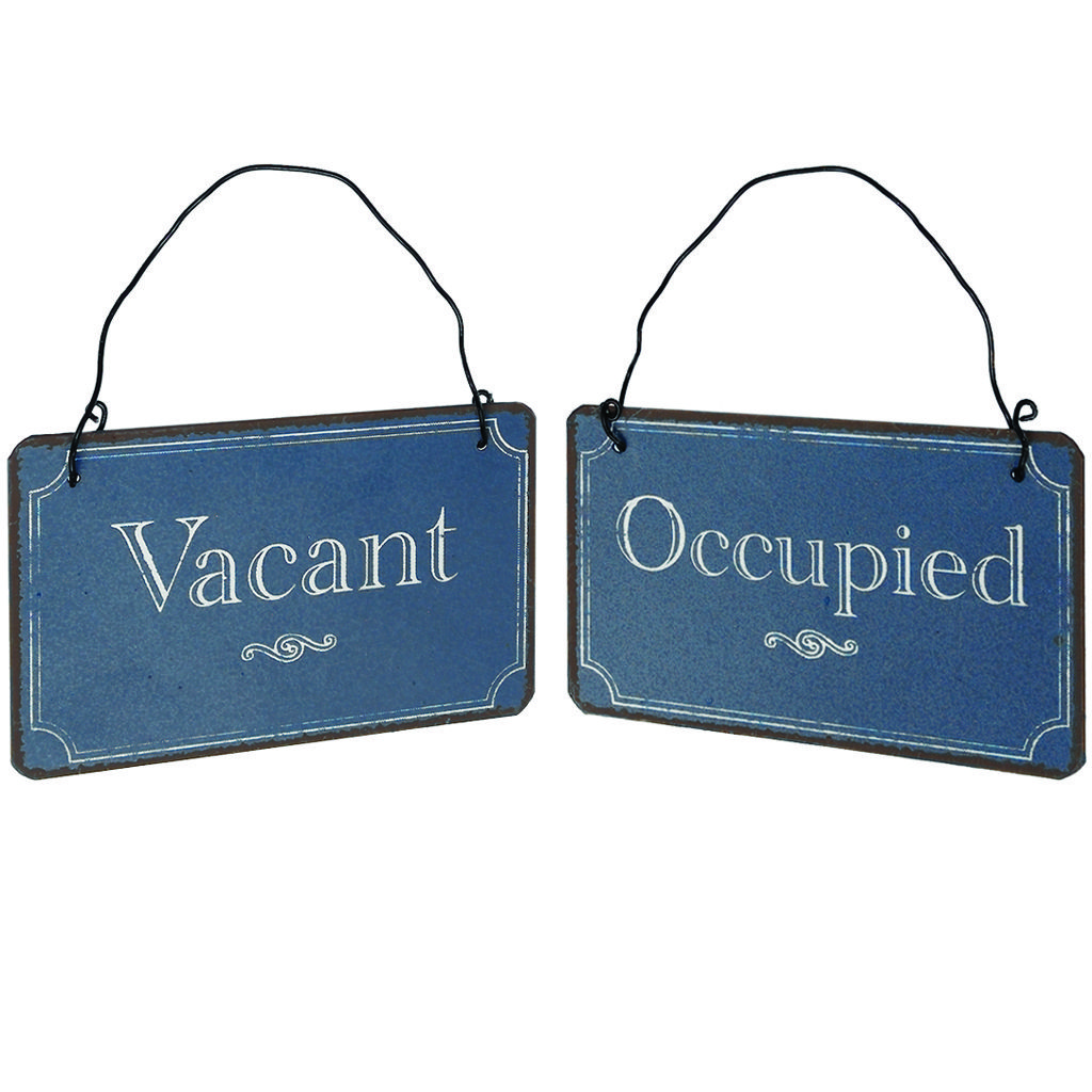 Image Detail For  Double Sided Vacant/occupied Vintage Metal Sign