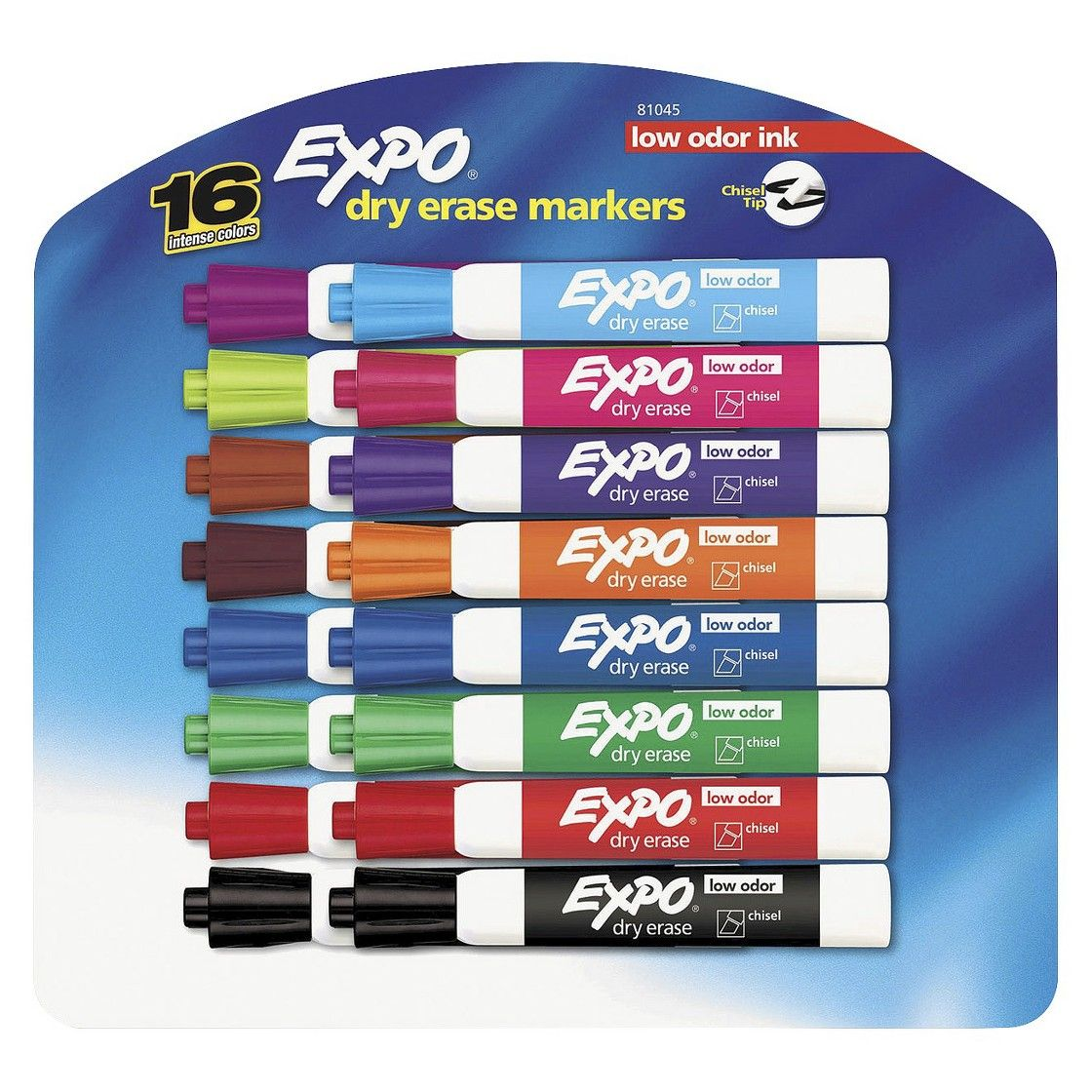 EXPO� Chisel Tip Low Odor Dry Erase Markers - Assorted (16 Per Set)