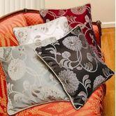 "Violet Linen""Legacy Damask 18"" X 18"" Decorative Cushion Cover"