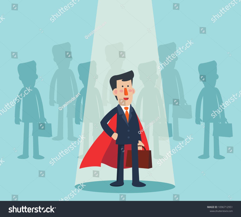 Super Business Man Standing In Spotlight Cartoon Superhero Standing With Cape Waving In The Wind Successful Cartoon Man Standing Photography Tutorials Nikon