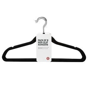 Target Clothes Hangers Non Slip Hangers With Black Flocking  8 Pack  Hanger Target And