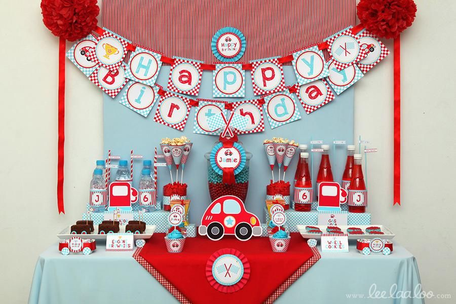 The Race Car Theme Seems So Fitting For Hanks Upcoming First Birthday