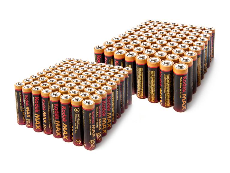 Kodak Max Alkaline Batteries 5 Sizes Alkaline Battery Kodak Batteries