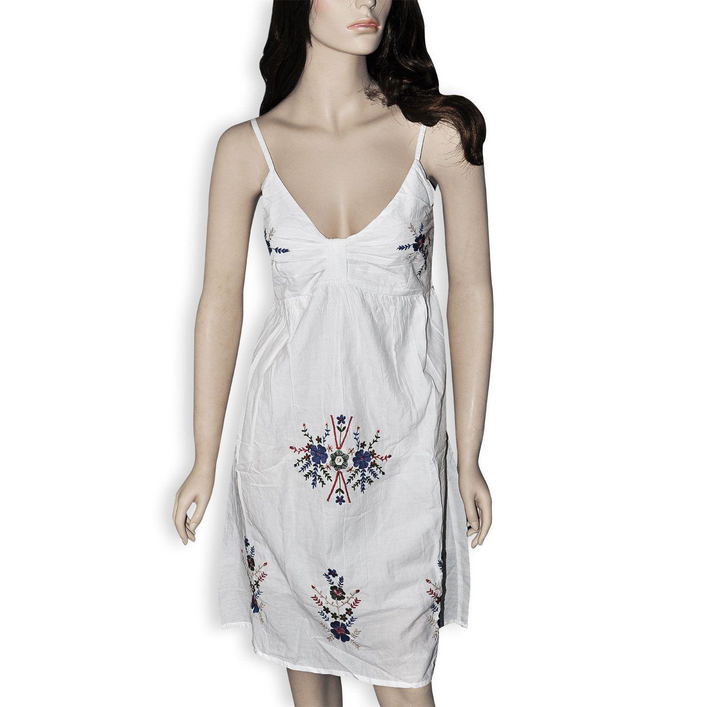 Girls white cotton dress cotton white dress womenus fashion