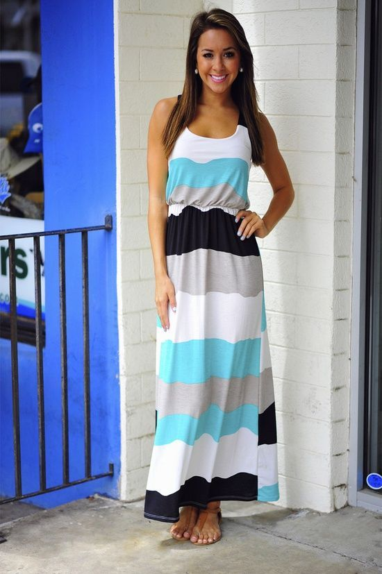 How to wear maxi dress in summer