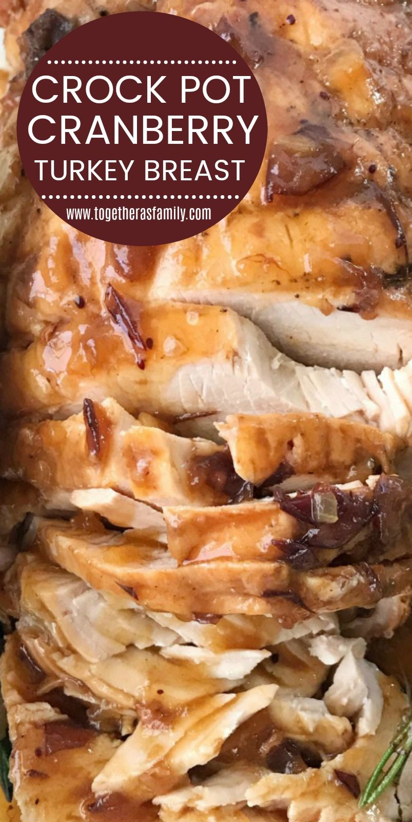 Crock Pot Turkey Breast Boneless  Turkey Recipe  Turkey Breast with Cranberry Gravy  Crock Pot Turkey Breast only needs 4 ingredients and you wont believe how easy it is...