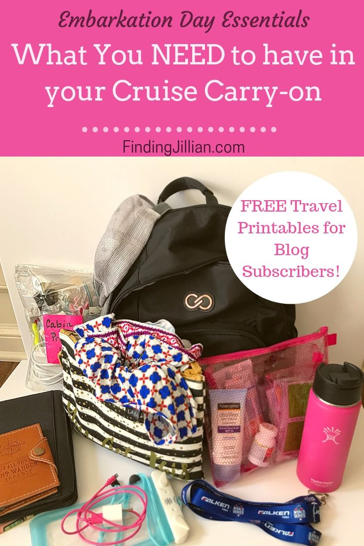 Cruise Vacation Embarkation Day Bag Must Haves
