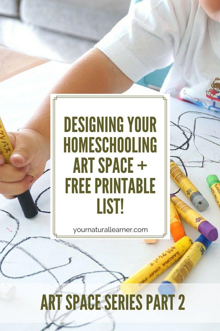 Designing your homeschooling art space homeschool art