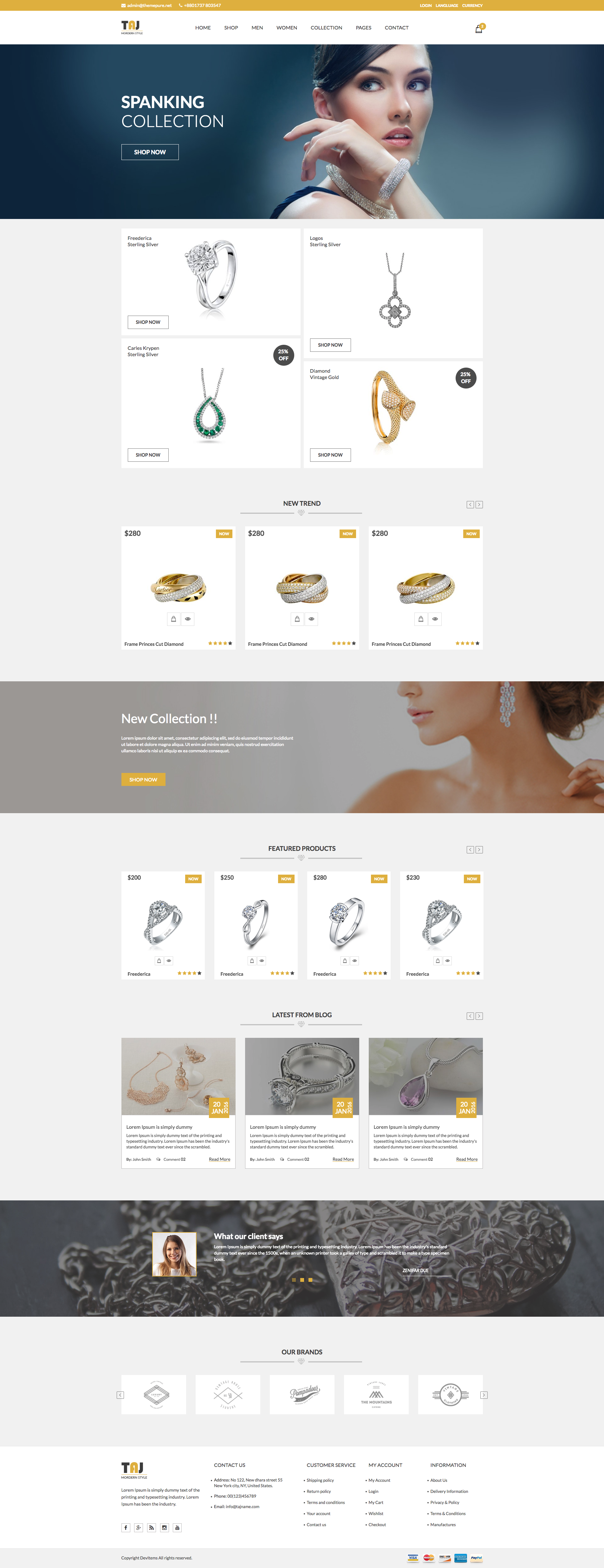 Taj – Responsive eCommerce Bootstrap Template. Keeping pace with ...