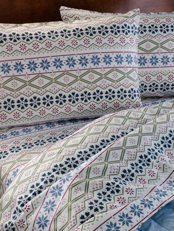Nordic Print Flannel Sheet Set Portuguese Flannel Bedding Flannel Bedding Nordic Print Patterned Sheets