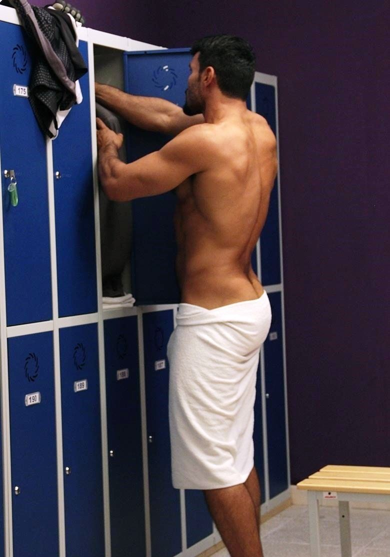 Bare Naked Muscle Jock In The Locker Room And Showers