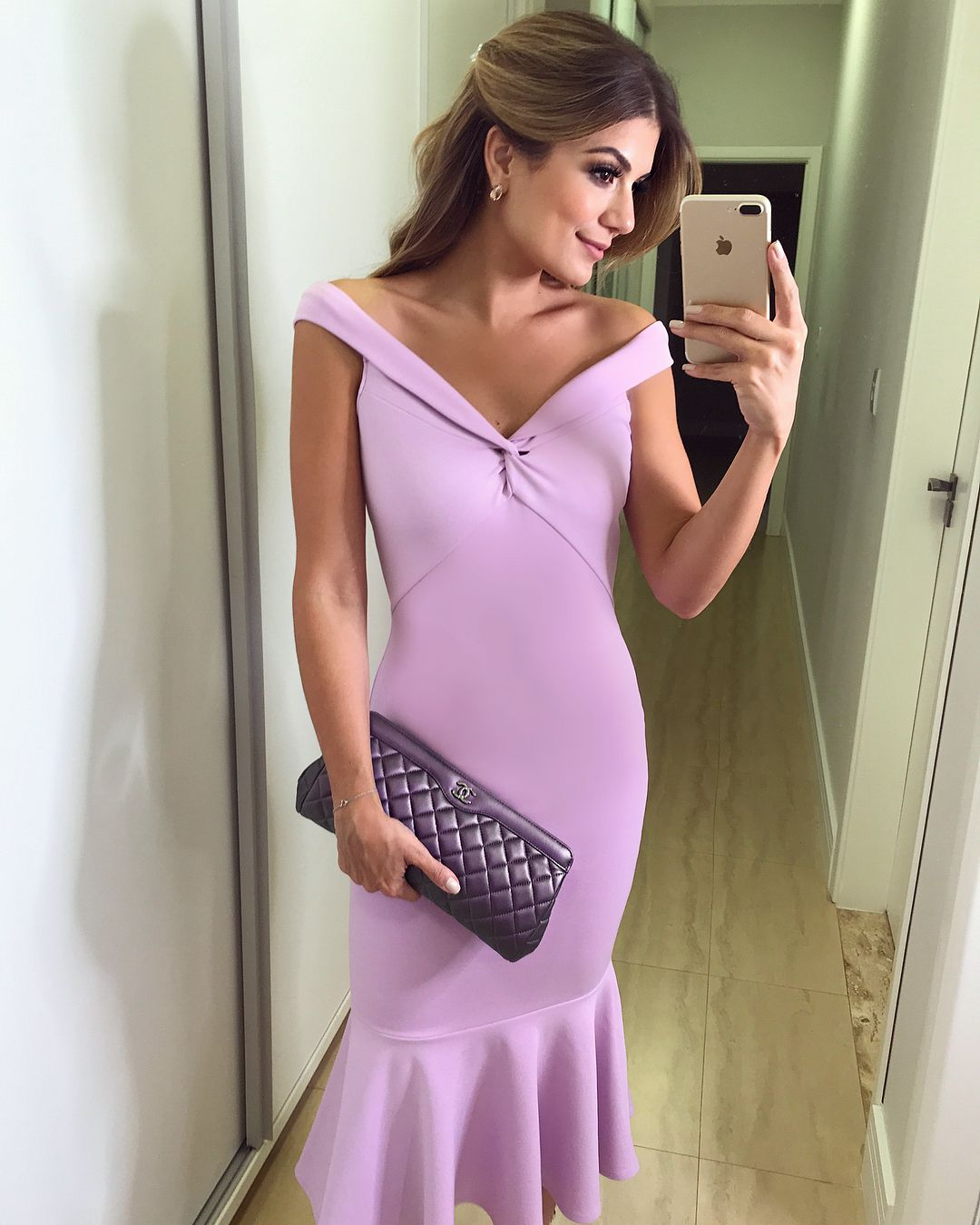 b66cef661 Midi 💜 Da @loja_4her } Lilás vestido babado peplum   Ariane Canovas ...