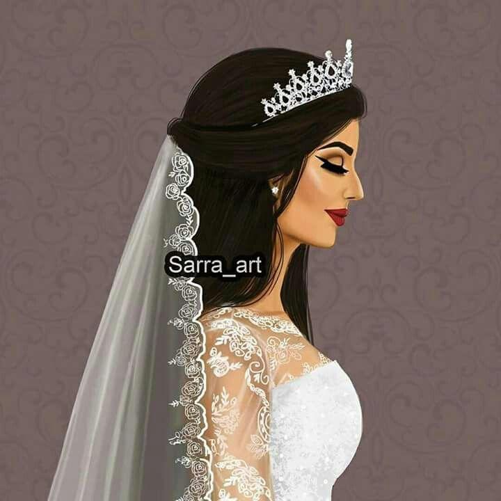 Pin By Dalia Ahmed On بنوتات Sarra Art Beautiful Girl Drawing Bride Cartoon