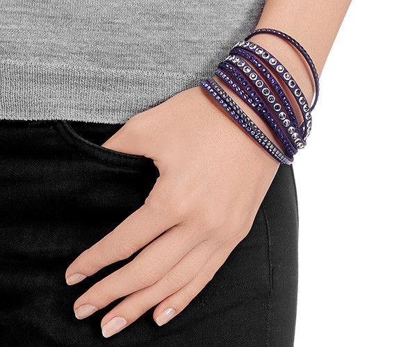 f96997e16 Slake Rock Purple Bracelet - Jewelry - Swarovski Online Shop | Gifts ...