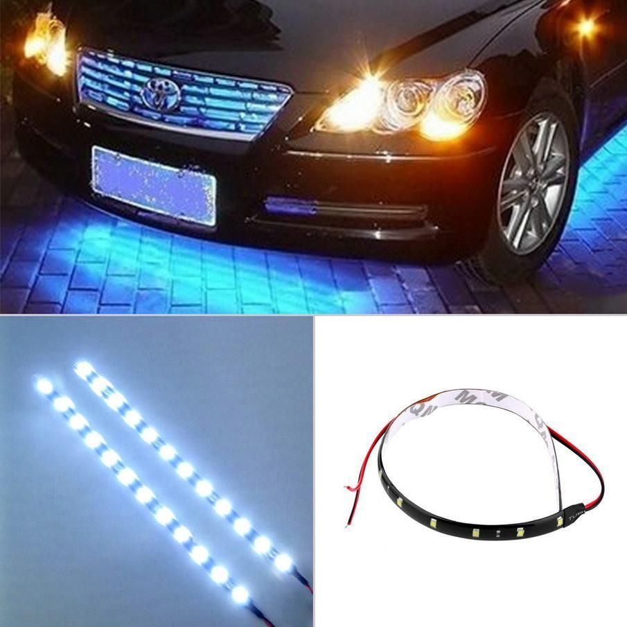 New Arrival 30cm 12v 15 Led Car Auto Motorcycle Waterproof Strip
