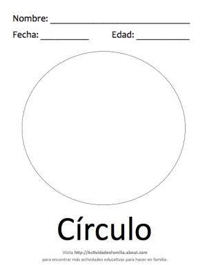 Figuras geométricas básicas para colorear: Círculo   Cosas para