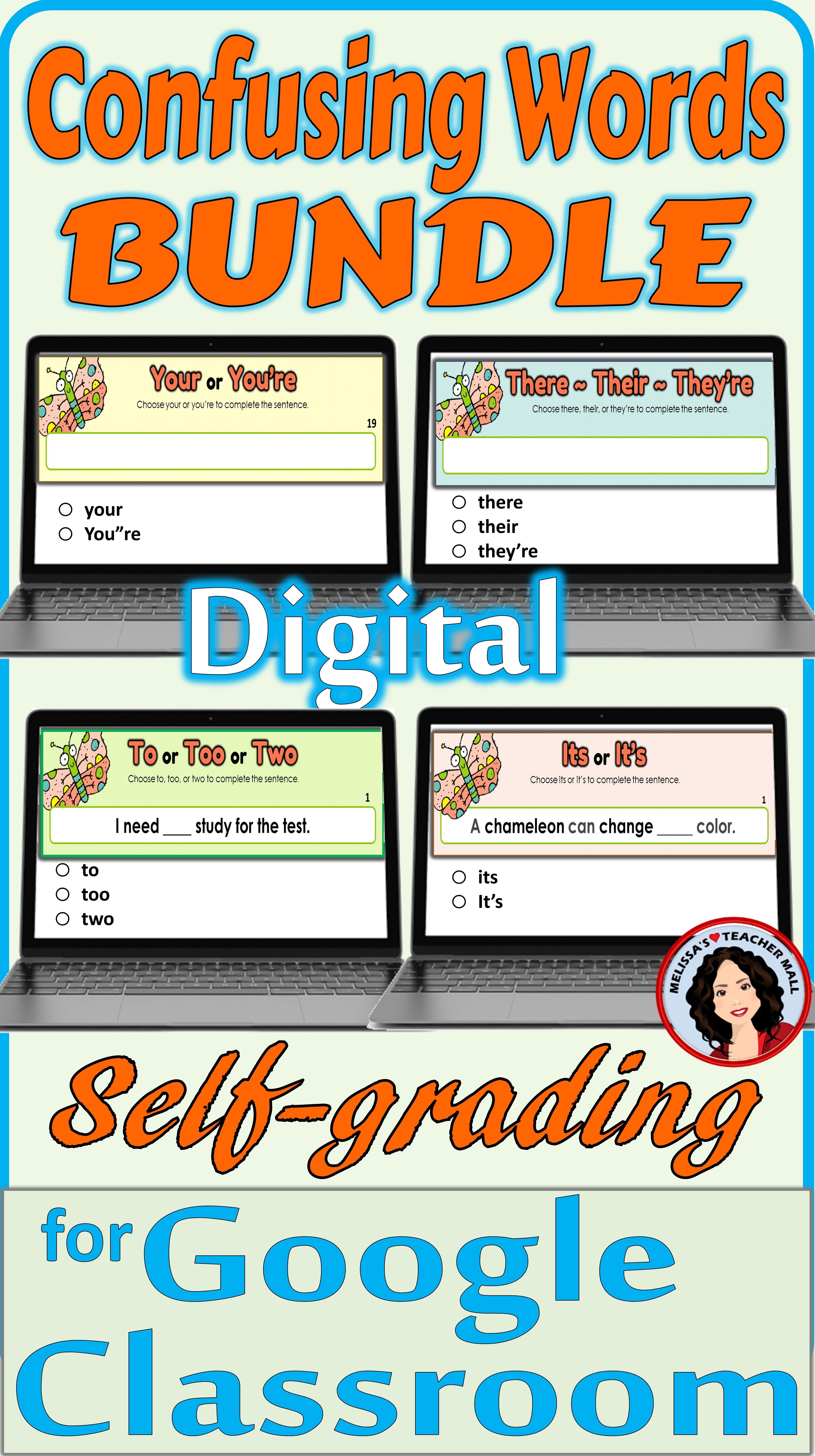 Confusing Words Classroom Digital Activities Bundle
