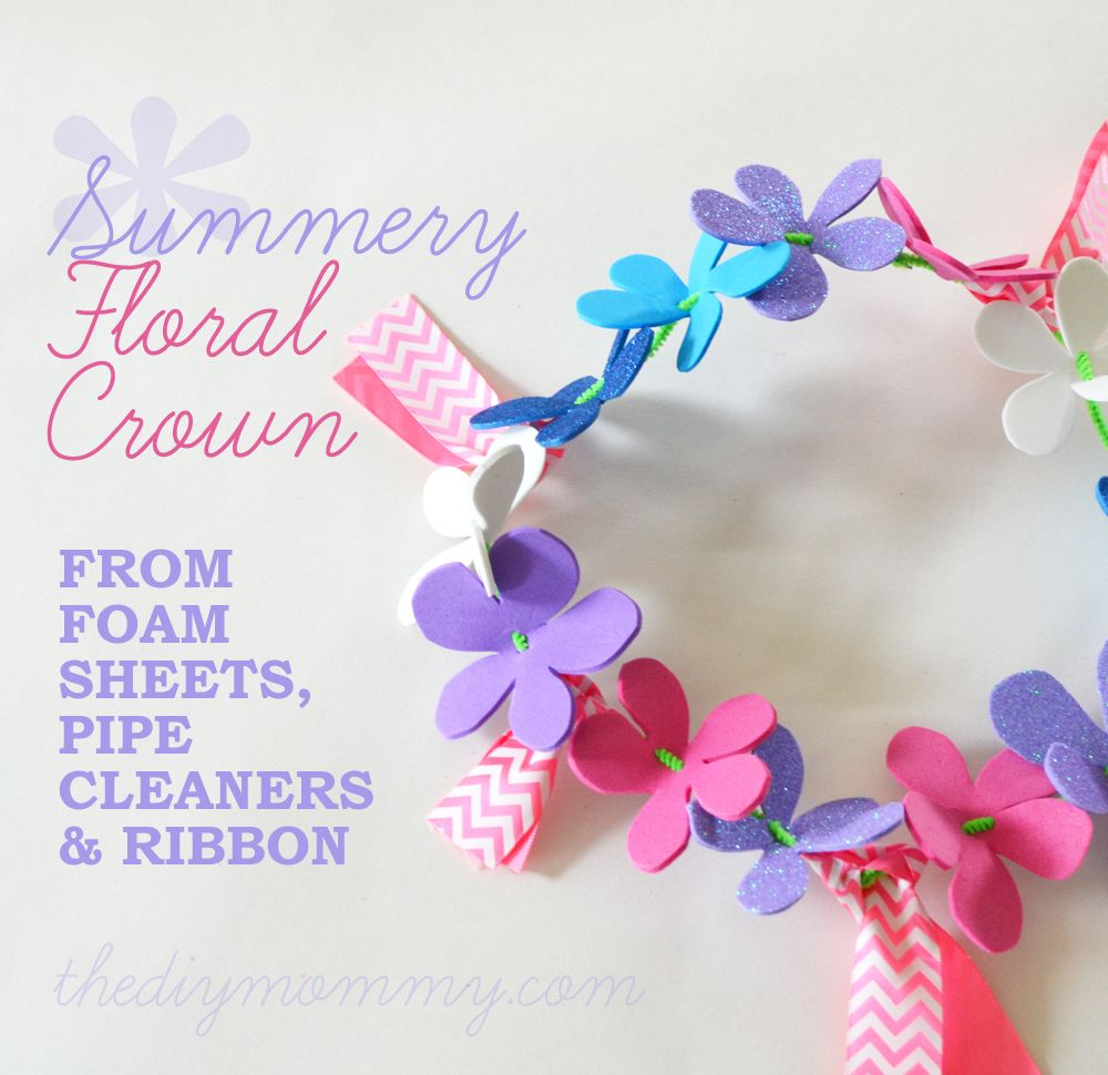 Memory foam for crafts - Make A Summery Flower Crown From Foam Sheets A Kid S Craft The Diy Mommy