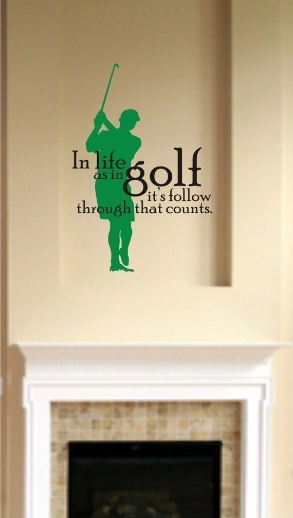 Beau Golf Wall Decal Vinyl Wall Stickers Art By Singlestonestudios