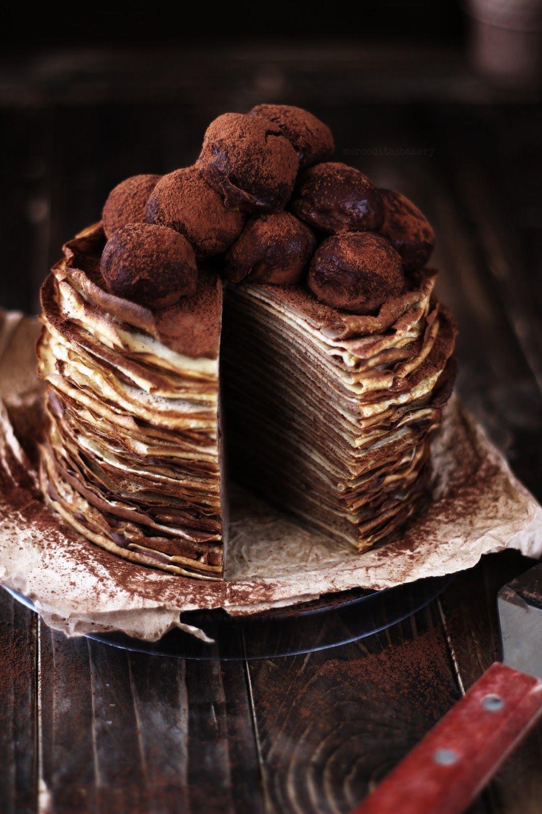 Merceditas Bakery Tarta De Crêpes De Café Y Baylis Tartas Pastel De Crepas Recetas Reposteria Casera