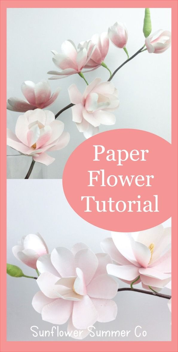 Magnolia Paper Flower Tutorial