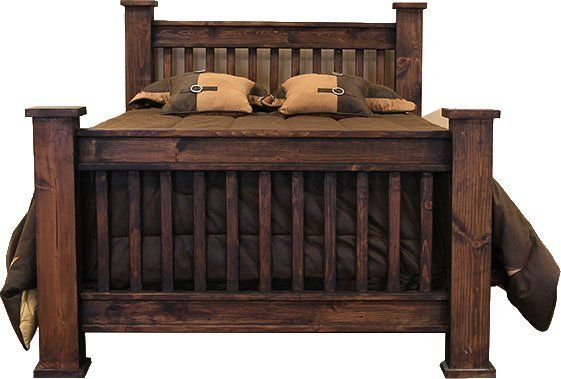 Rustic Mission Bed Frame Dark Stain Mission Style Beds Bed