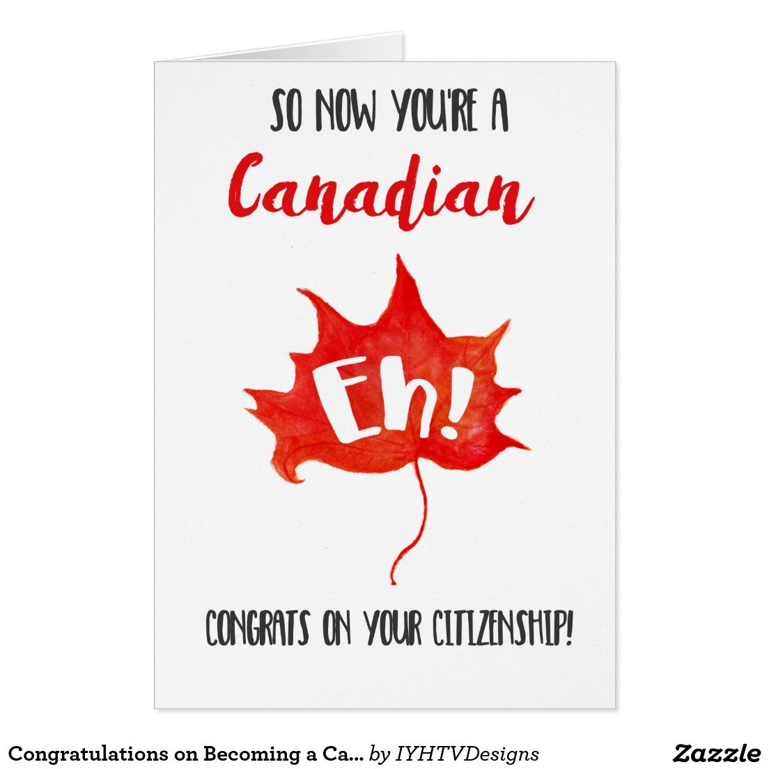 Congratulations on becoming a canadian citizen greeting card cards congratulations on becoming a canadian citizen greeting card m4hsunfo