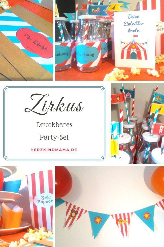 zirkus party set kindergeburtstag zum ausdrucken basteln printable, Gartenarbeit ideen