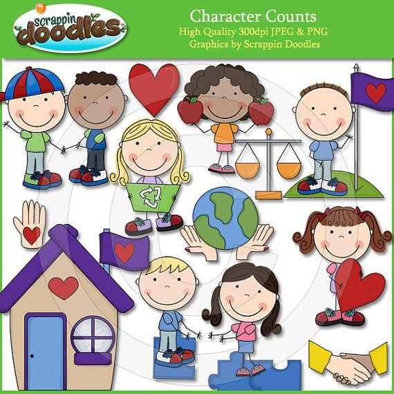 Character Counts Clip Art Bonecas