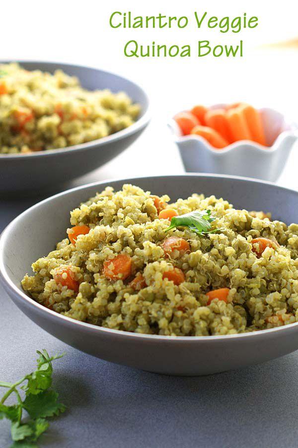 Cilantro veggie quinoa bowls recipe american green green rice cilantro veggie quinoa bowls forumfinder Gallery