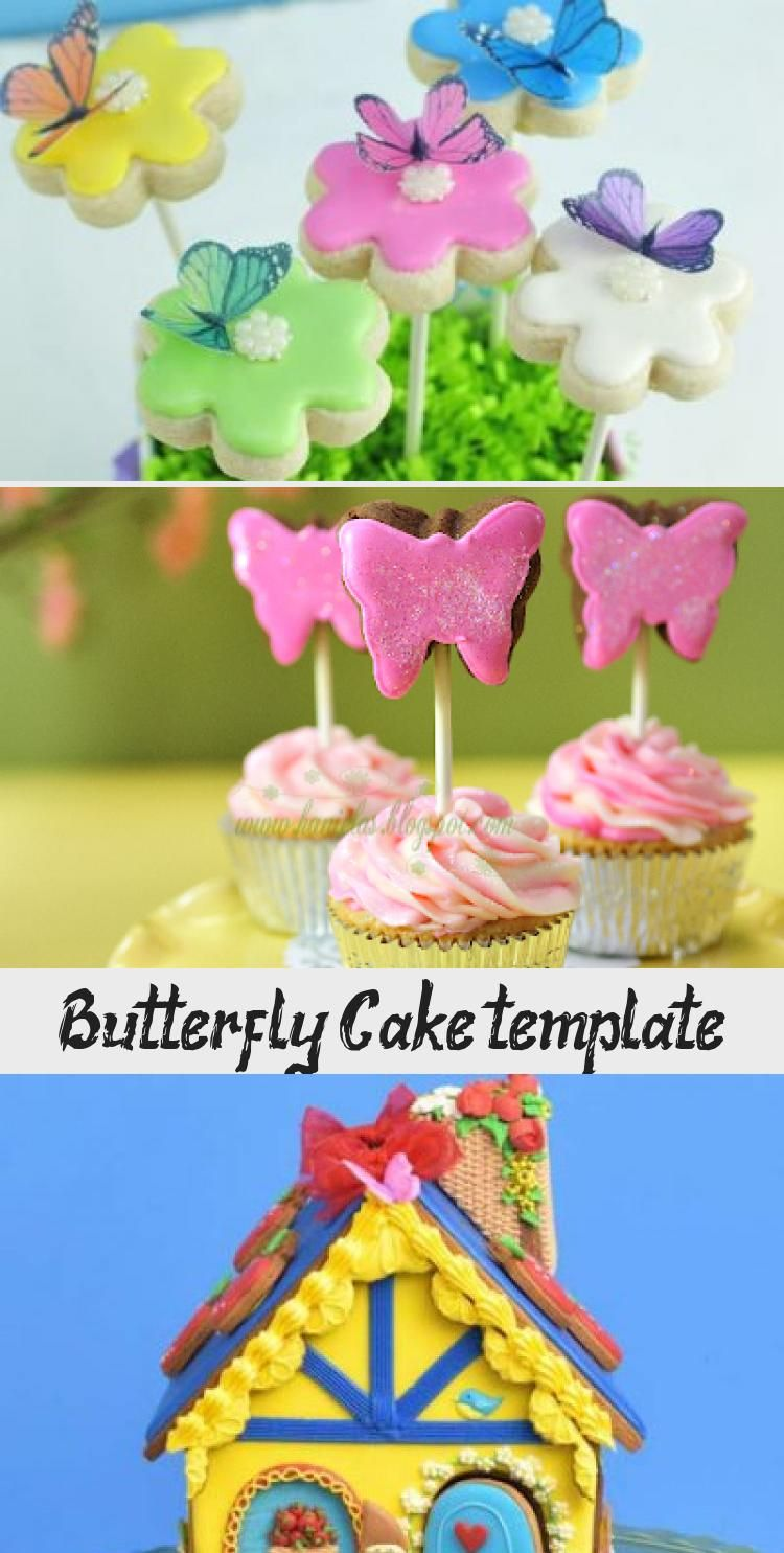 Butterfly Cake Template Decorations In 2020 Butterfly Cakes Butterfly Cake Template Edible Cake Decorations