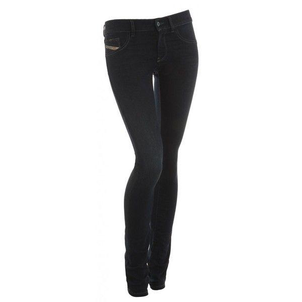 b5fb2fc9 Diesel Jeans Livier Blue Skinny Dark Wash Mid Rise Jegging ($170) ❤ liked  on Polyvore