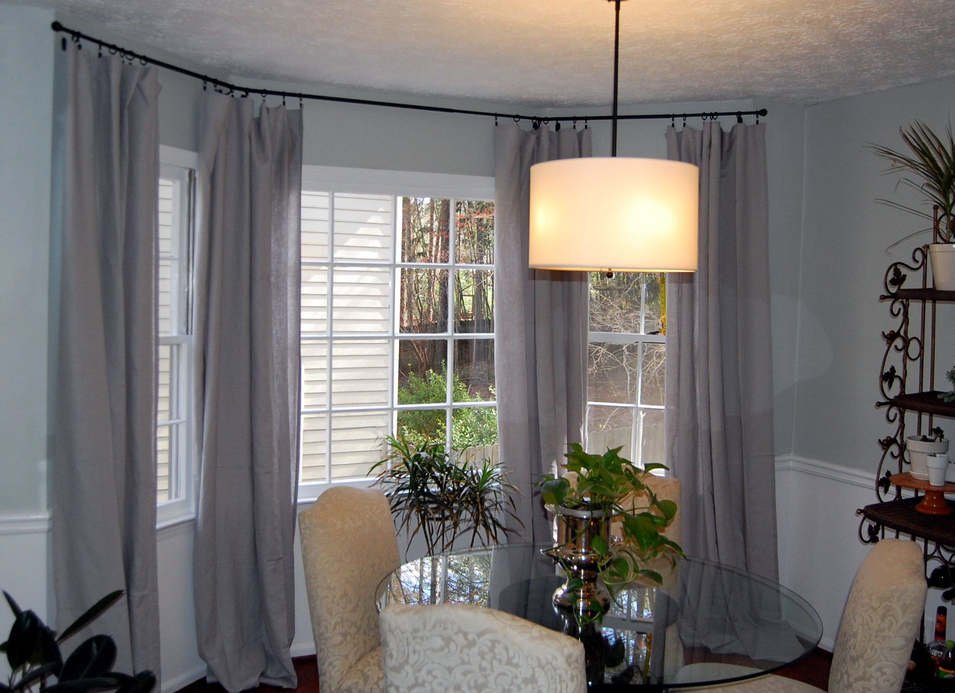 Kitchen nook window treatments  pin by mahal anderson on home  pinterest  room
